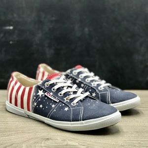 Superga American Flag Print Canvas Sneakers